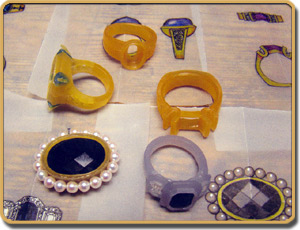 Custom Ring and Pendant Wax Castings